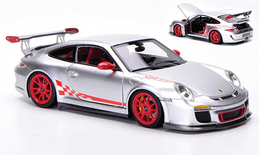 Porsche 997 GT3 RS 2010 1/43 FrontiArt grise/rouge miniature