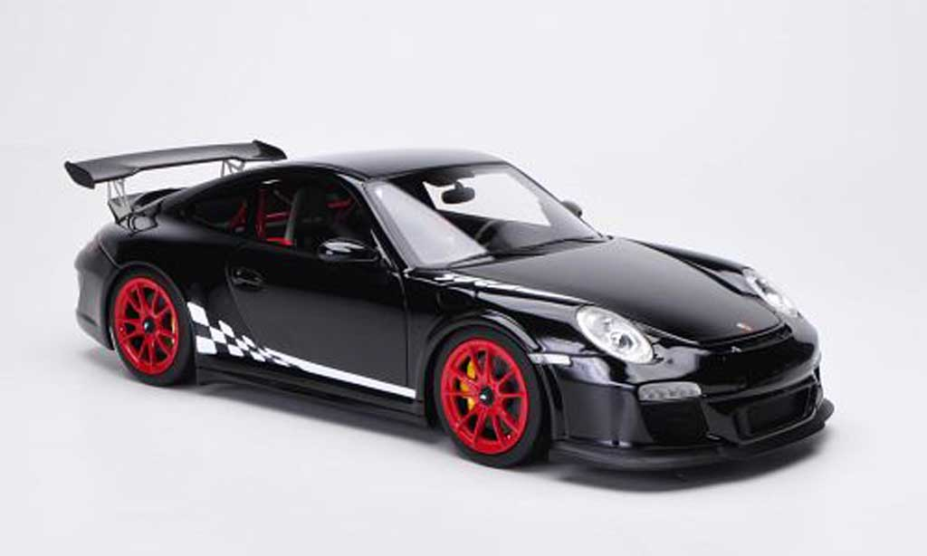 Porsche 997 GT3 RS 1/18 FrontiArt 2010 black/white diecast model cars