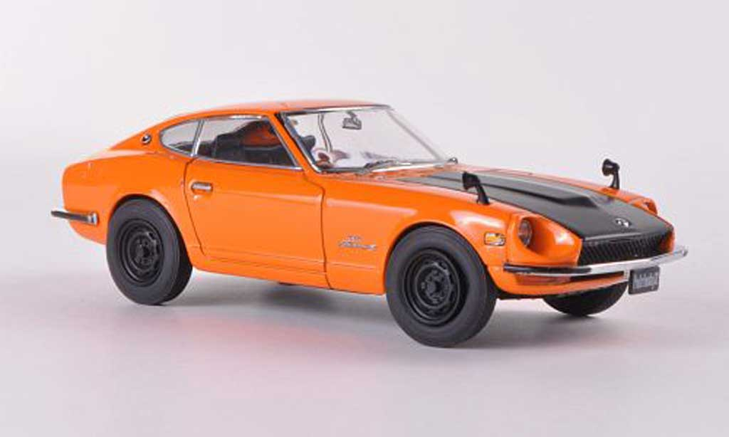 Nissan Fairlady Z Z432 1/43 Ebbro orange/mattnoire RHD  1969 miniature