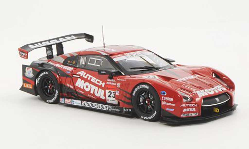 Nissan Skyline R35 1/43 Ebbro GT-R No.23 Motul Autech S.Motoyama / M.Krumm Low Down Force Super GT500 2012 miniature