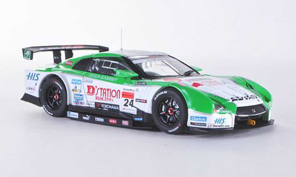 Nissan Skyline R35 1/43 Ebbro GT-R No.24 D station/Advan Low Down Force Super GT500 2012 miniature