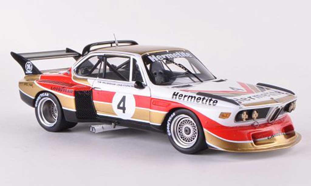 Bmw 3.0 CSL 1/43 Spark Gr.5 No.4. Hermetite 6h Silverstone 1976 J.Fitzpatrick/T.Walkinshaw miniature