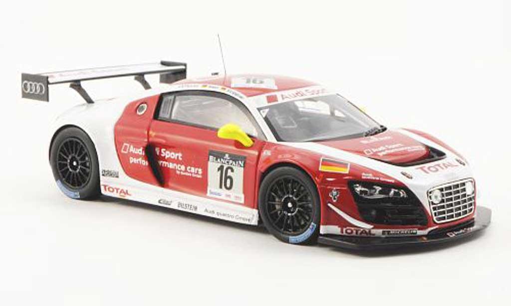 Audi R8 LMS 1/43 Spark Ultra No.16 Sport A.Piccini/R.Rast/F.Stippler 24h Spa 2012 miniature
