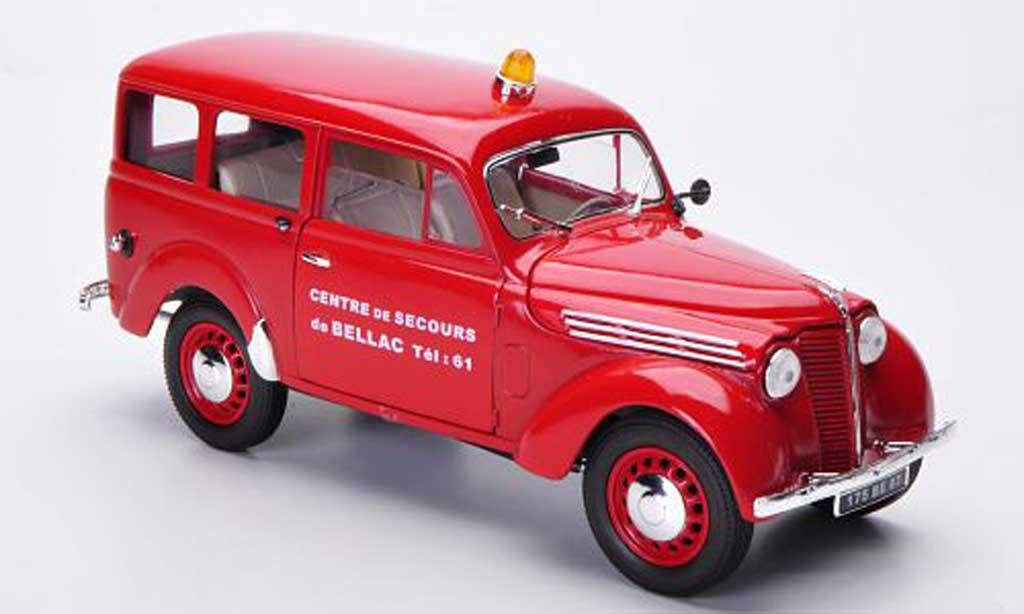 Renault Juvaquatre 1/18 Solido Pompiers Feuerwehr (F) diecast model cars