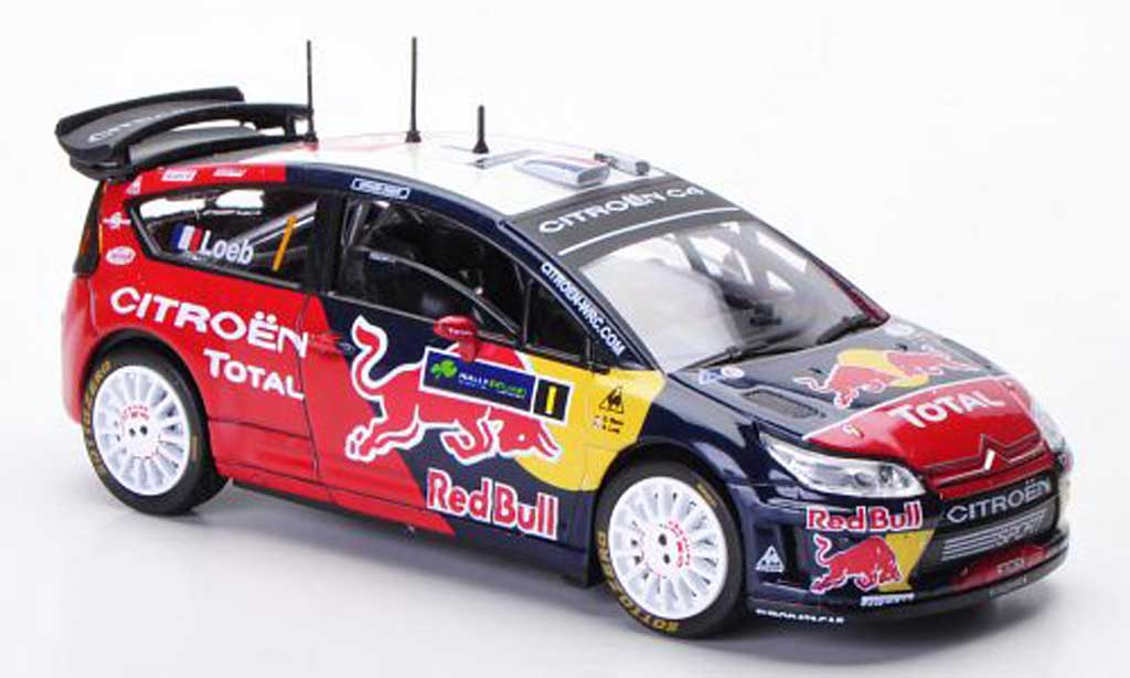 Citroen C4 WRC 2009 1/43 Solido No.1 Red Bull S.Loeb / D.Elena Rally Irland diecast model cars