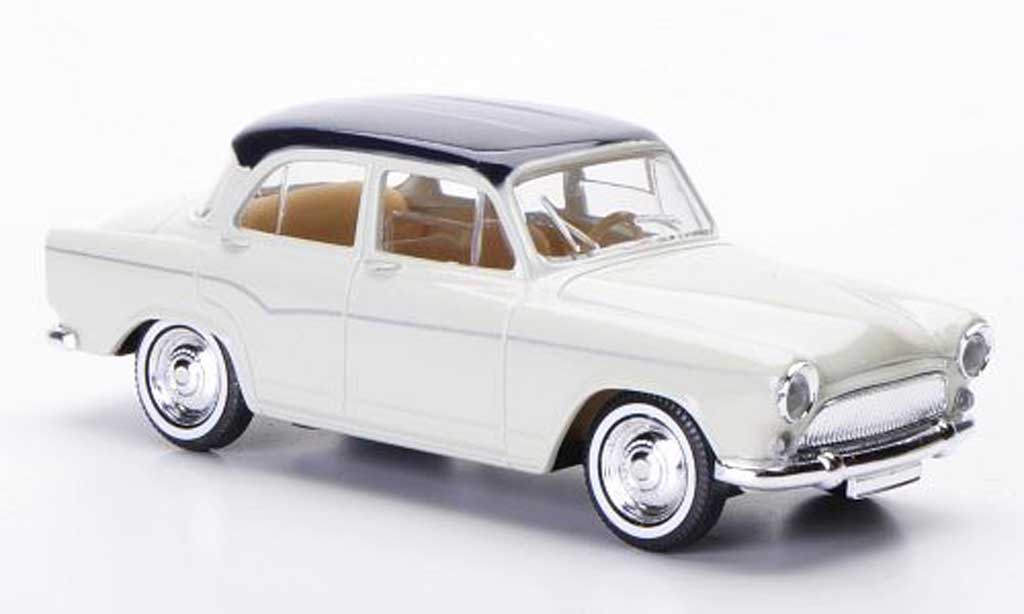 Simca P 60 hellbeige/blue 1960 Solido. Simca P 60 hellbeige/blue 1960 miniature 1/43
