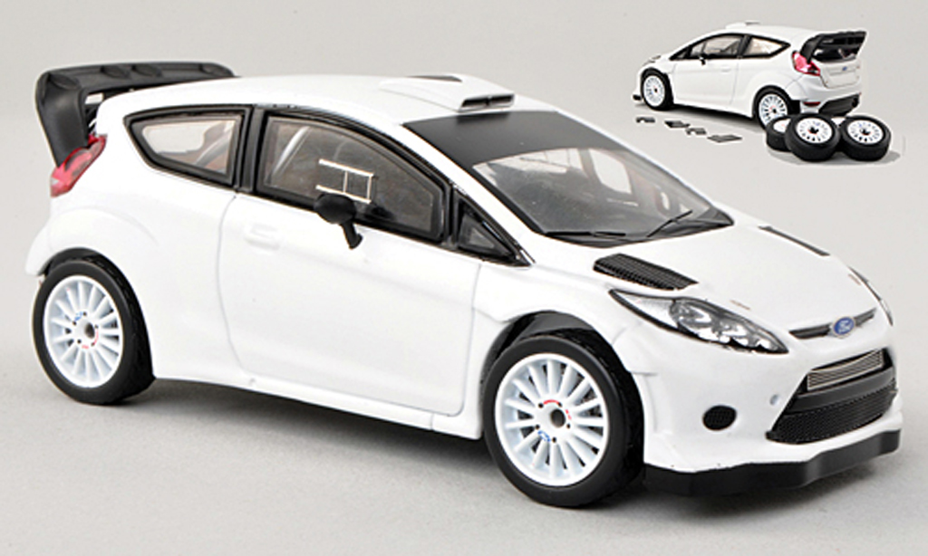 Ford Fiesta WRC 1/43 IXO blanche Plain Body Version 2009 miniature
