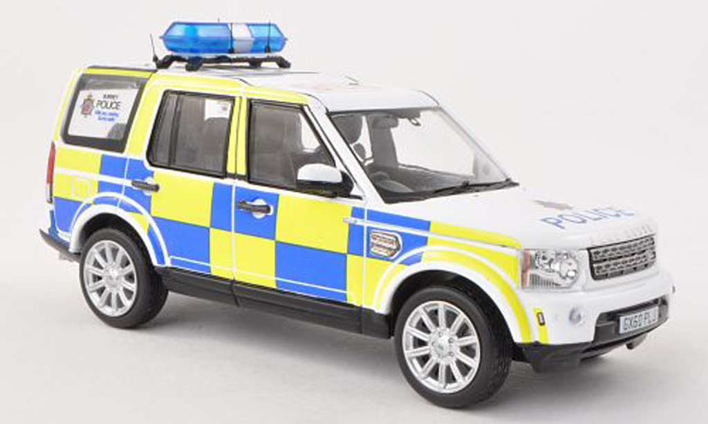 Land Rover Discovery 1/43 IXO 4 Surrey Police RHD police (UK) 2010 miniature