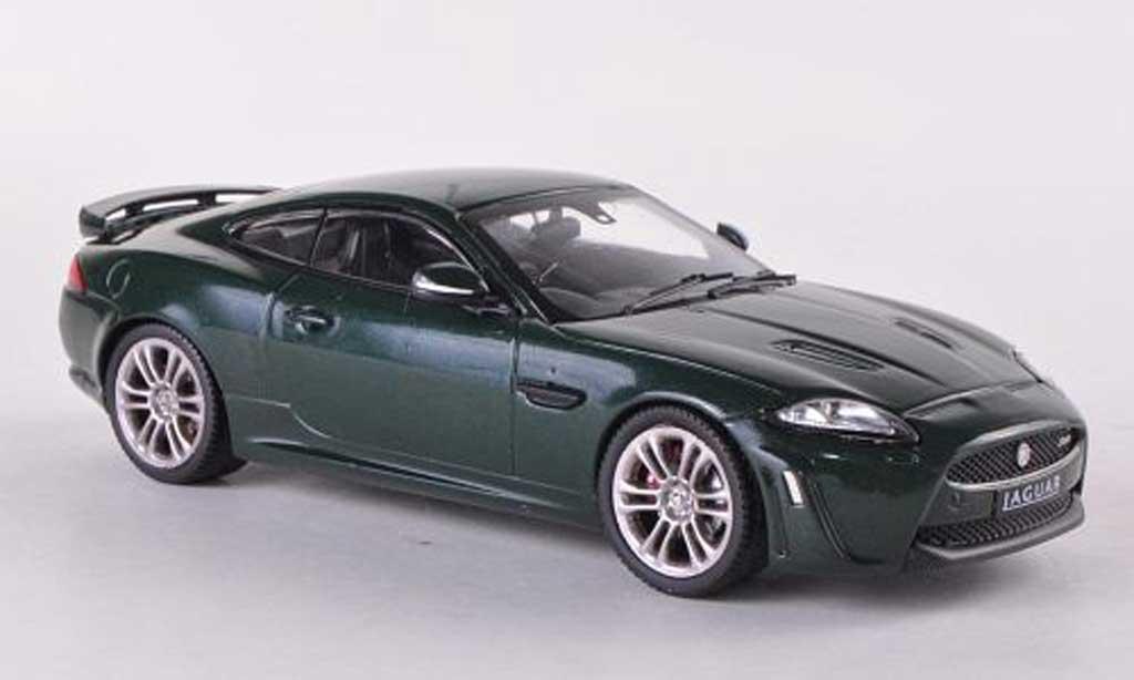 Jaguar XKR S 1/43 IXO verte RHD 2010 miniature