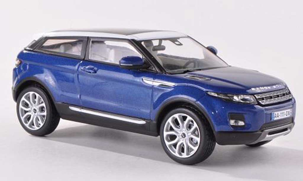 Range Rover Evoque 1/43 IXO bleue/blanche 3-Turer 2011 miniature