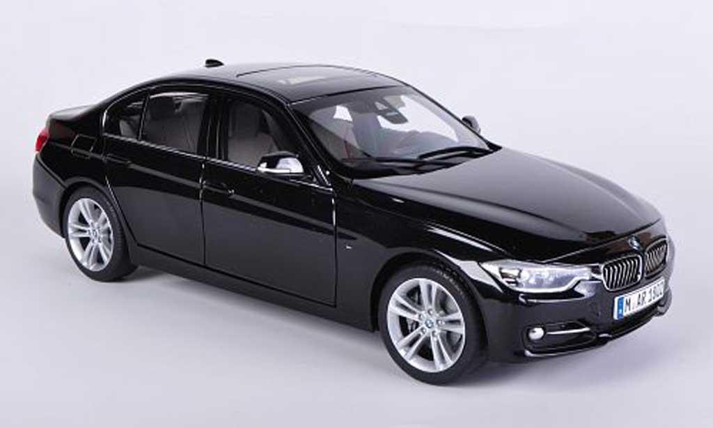 bmw 335 f30 miniature 3er limousine noire 2012 paragon 1 18 voiture. Black Bedroom Furniture Sets. Home Design Ideas