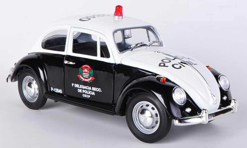 Volkswagen Kafer 1/18 Greenlight Policia Civil - Sao Paulo Polizei (BRA) 1967 diecast model cars