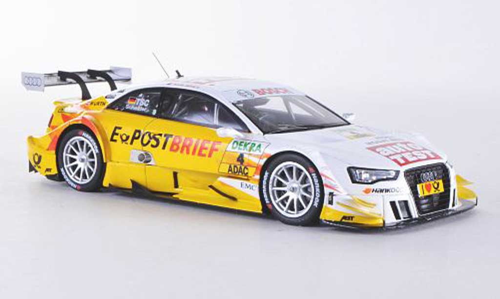 Audi A5 DTM 1/43 Spark No.4 AutoTest/E-Post Brief T.Scheider Saison 2012 miniature