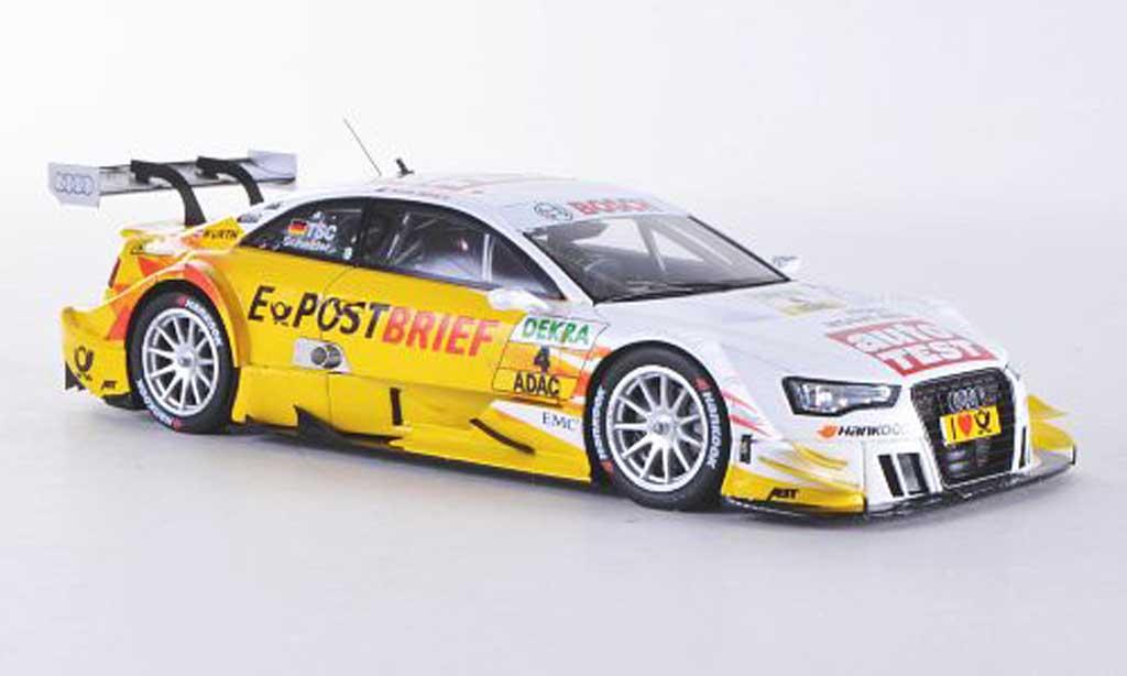 Audi A5 DTM 1/43 Spark No.4 AutoTest/E-Post Brief T.Scheider Saison 2012