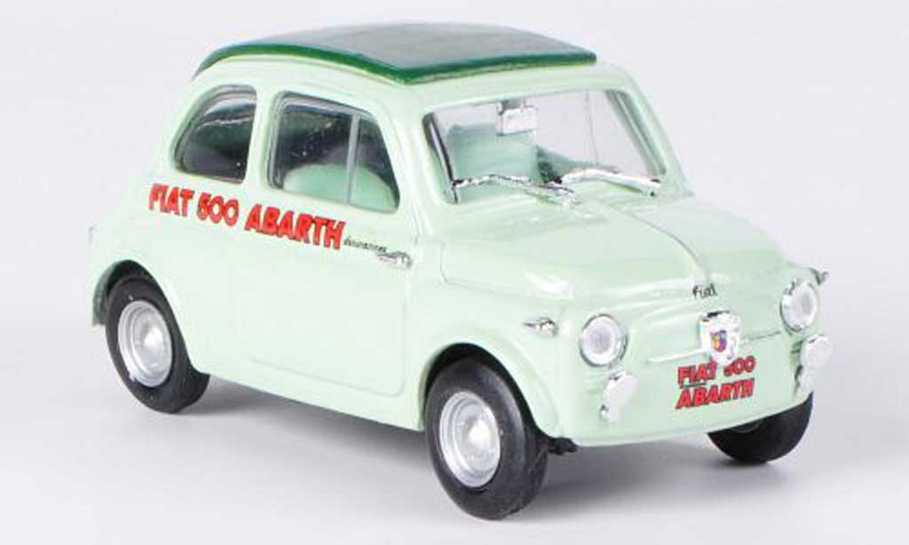 Fiat 500 Abarth 1/43 Brumm grun/grun Faltdach geschlosssen 1958 diecast model cars