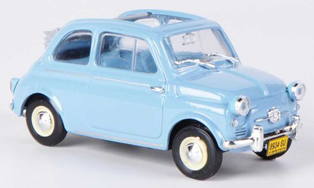 Fiat 500 1/43 Brumm America bleu Faltdach geoffnet 1958 diecast model cars