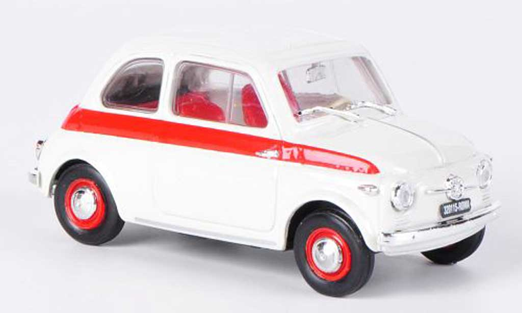 Fiat 500 Sport 1/43 Brumm white/red 1958 diecast model cars