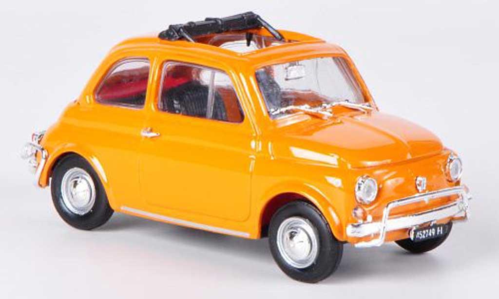 Fiat 500 L 1/43 Brumm orange offenes Faltdach 1968 diecast model cars