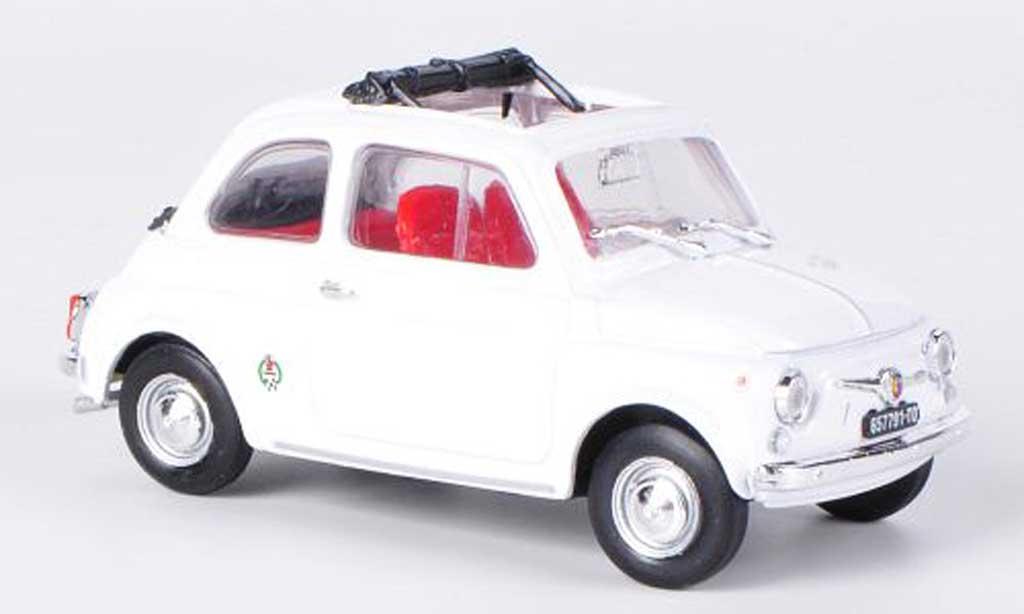 Fiat 595 1/43 Brumm Abarth SS white offenes Faltdach 1965 diecast model cars