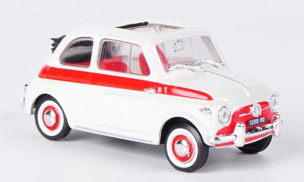 Fiat 500 Sport 1/43 Brumm zagato white/red offenes Faltdach 1957 diecast model cars