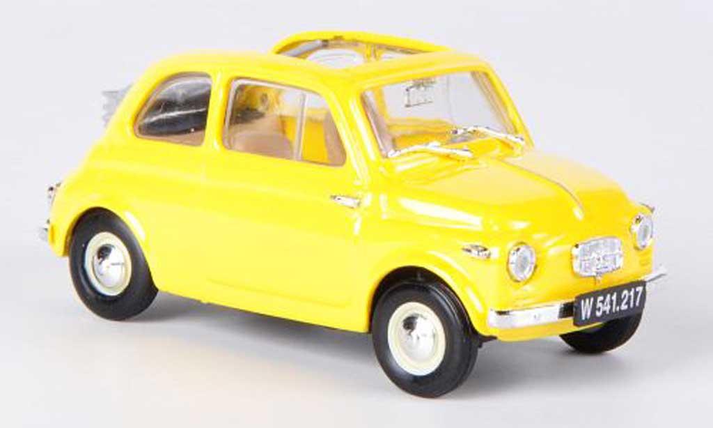 Steyr Puch 500 1/43 Brumm yellow offenes Faltdach 1957 diecast model cars