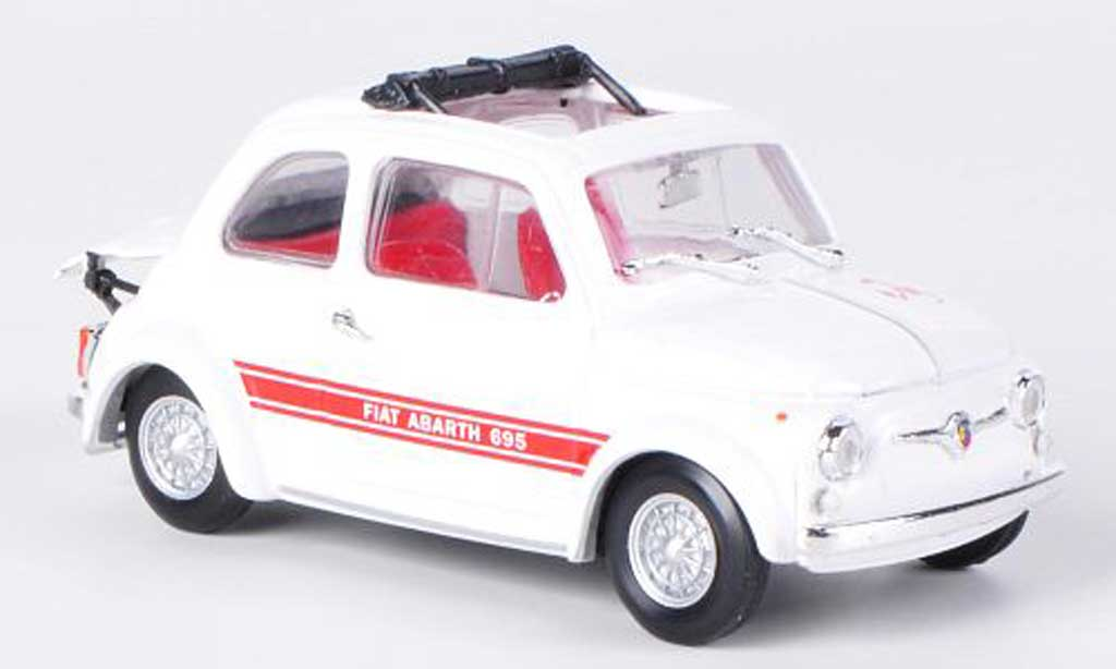 Fiat 695 1/43 Brumm Abarth SS Assetto Corse white/red offenes Faltdach 1968 diecast