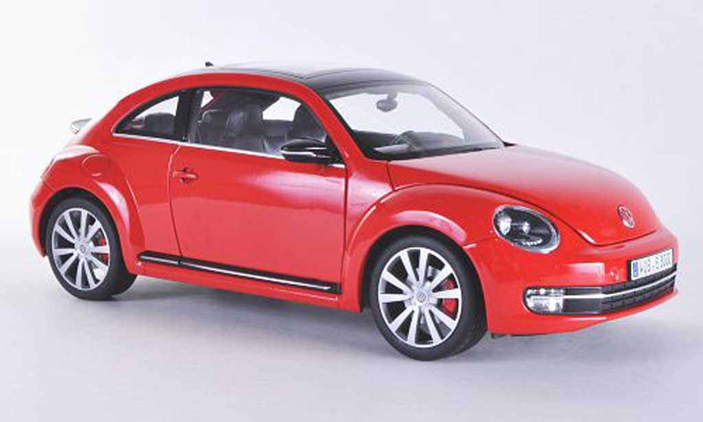 Volkswagen Beetle 1/18 Welly rouge/noire 2012 miniature