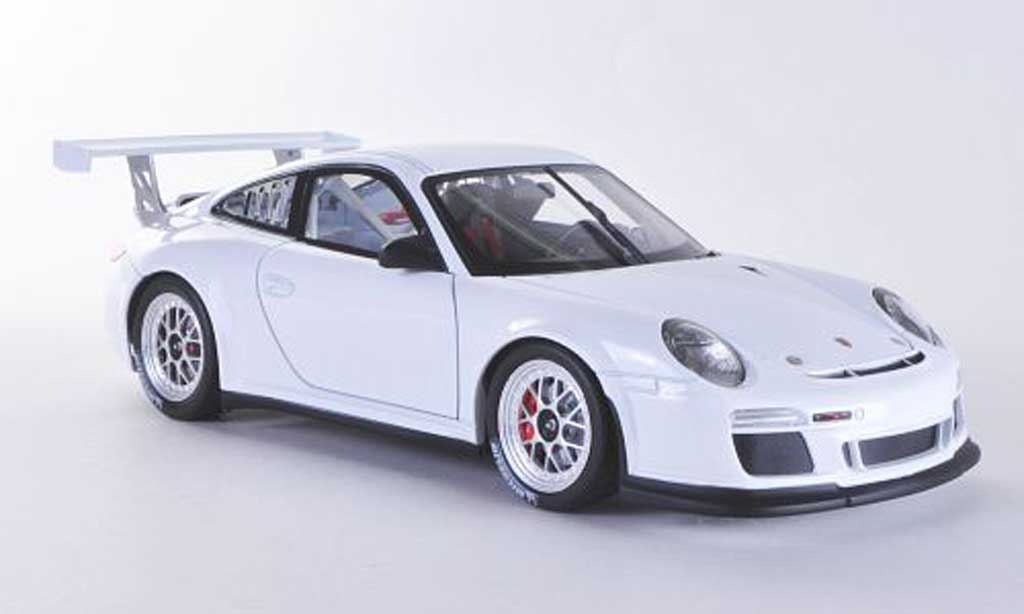 Porsche 997 GT3 CUP 1/18 Welly GT3 Cup 2012 blanche Plain Body miniature