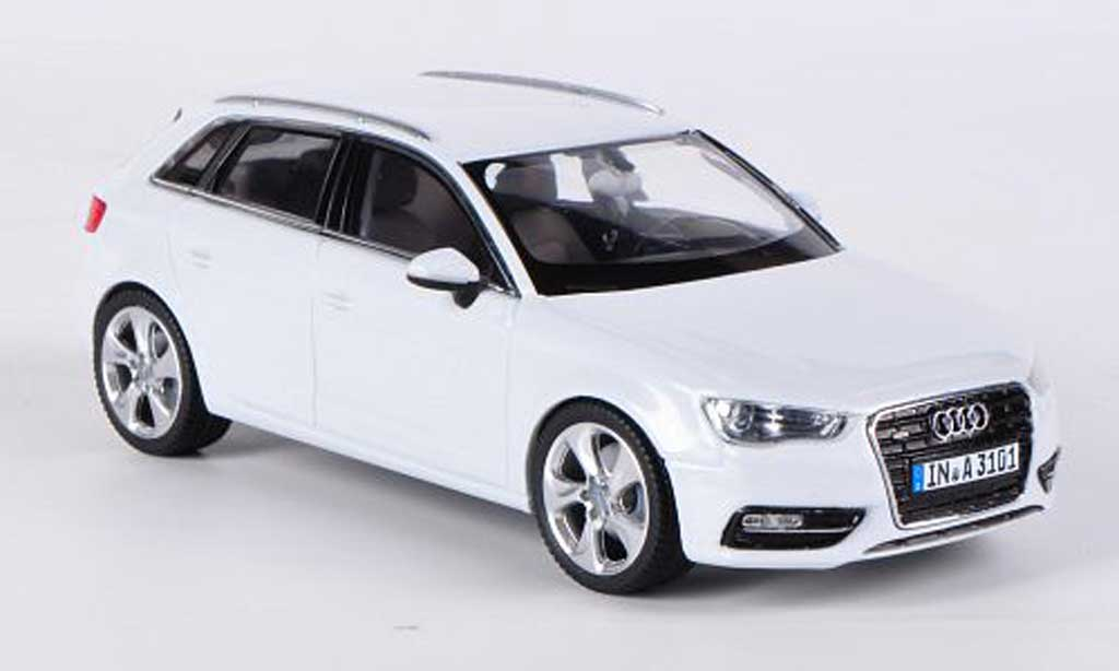 audi a3 miniature sportback blanche 2012 schuco 1 43 voiture. Black Bedroom Furniture Sets. Home Design Ideas