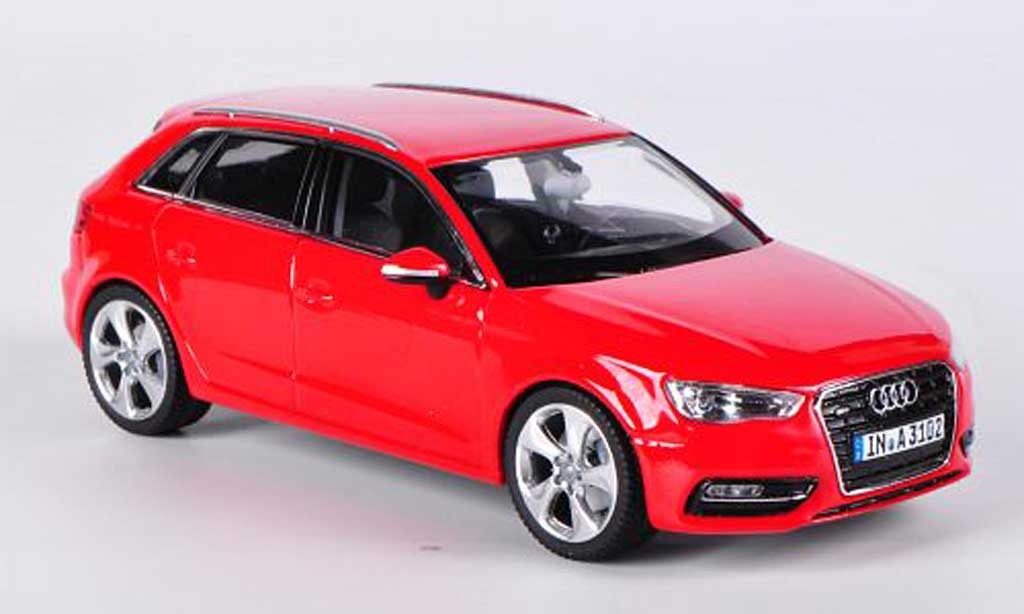 audi a3 miniature sportback rouge 2012 schuco 1 43 voiture. Black Bedroom Furniture Sets. Home Design Ideas
