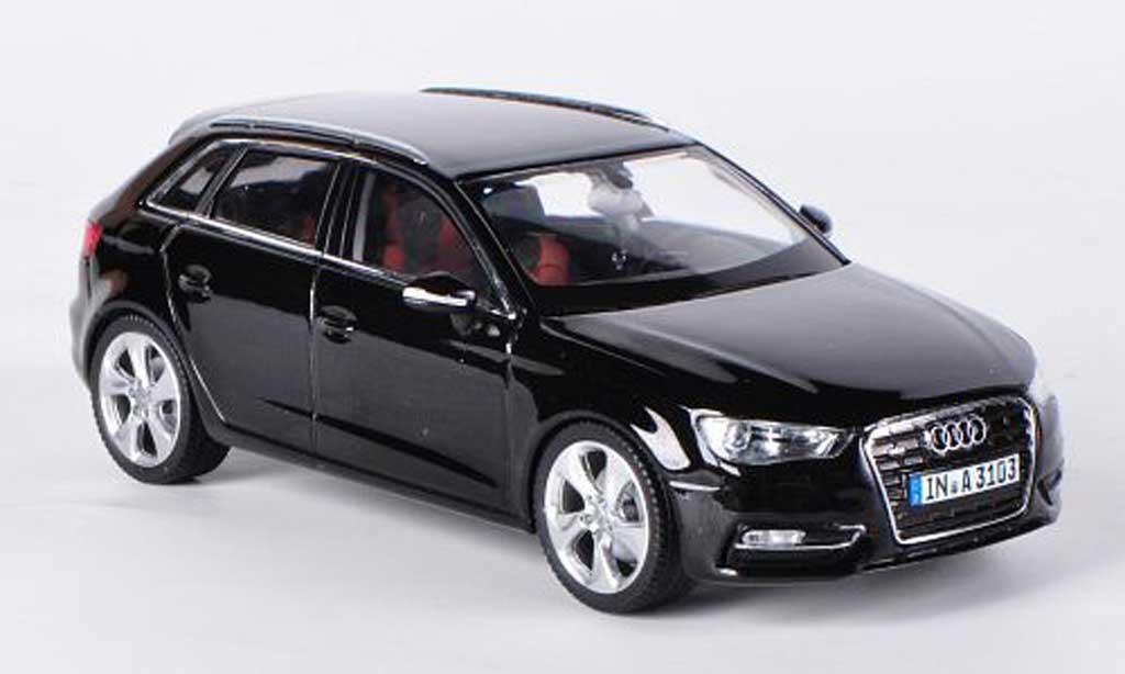 audi a3 sportback schwarz 2012 schuco modellauto 1 43. Black Bedroom Furniture Sets. Home Design Ideas