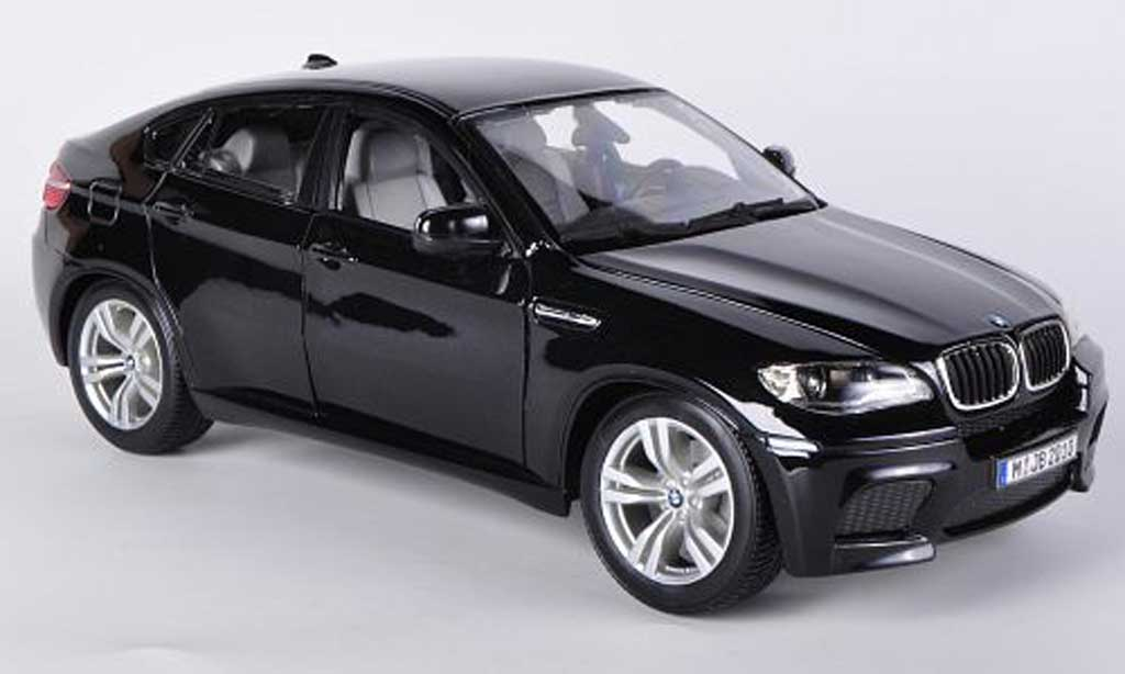 bmw x6 e71 miniature m noire burago 1 18 voiture. Black Bedroom Furniture Sets. Home Design Ideas