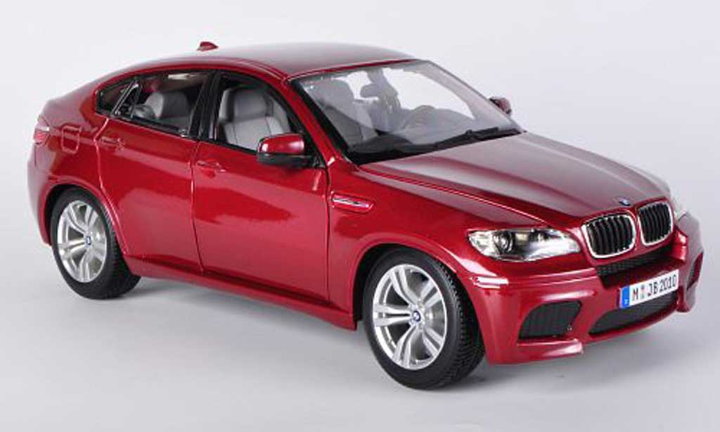 Bmw X6 E71 1/18 Burago M rouge miniature