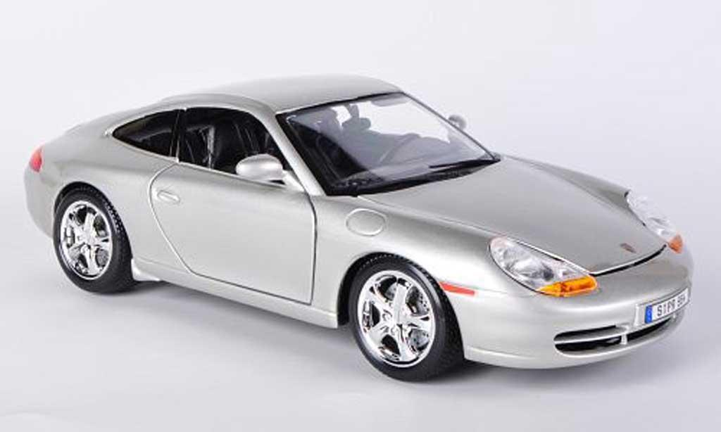 Porsche 996 Carrera gray Burago. Porsche 996 Carrera gray miniature 1/18