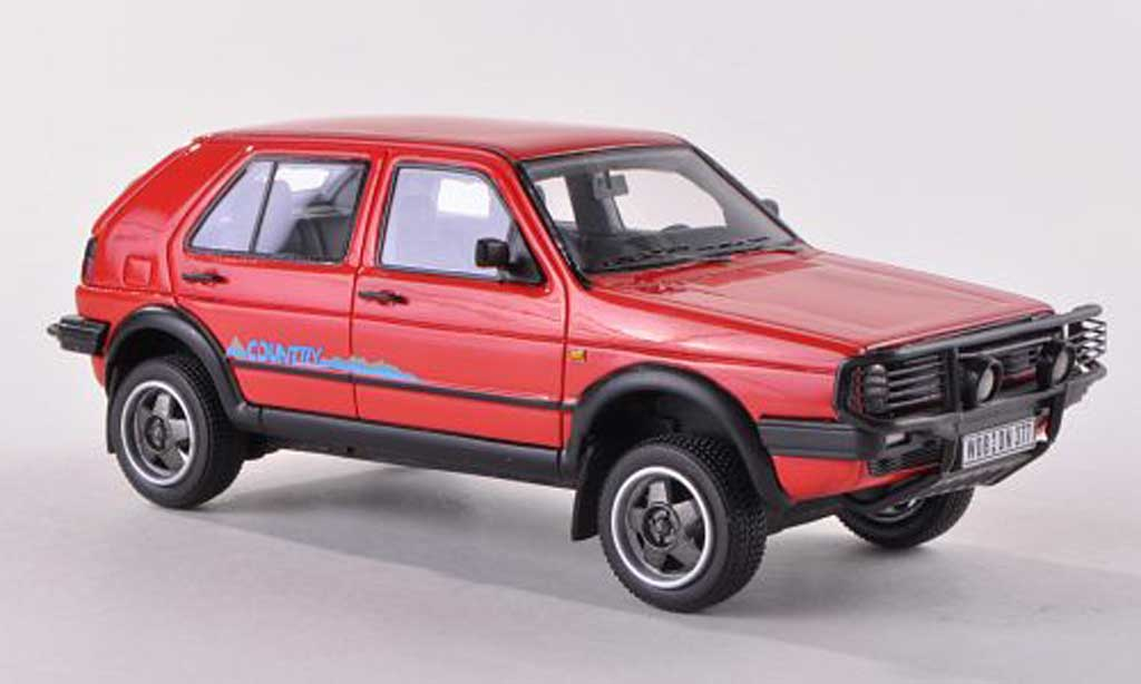 Volkswagen Golf 2 Country 1/43 Neo rouge 1990 miniature