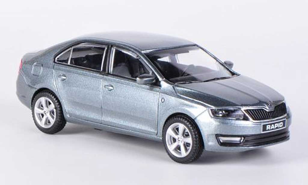 Skoda Rapid 1/43 Abrex anthrazit 2012 miniature