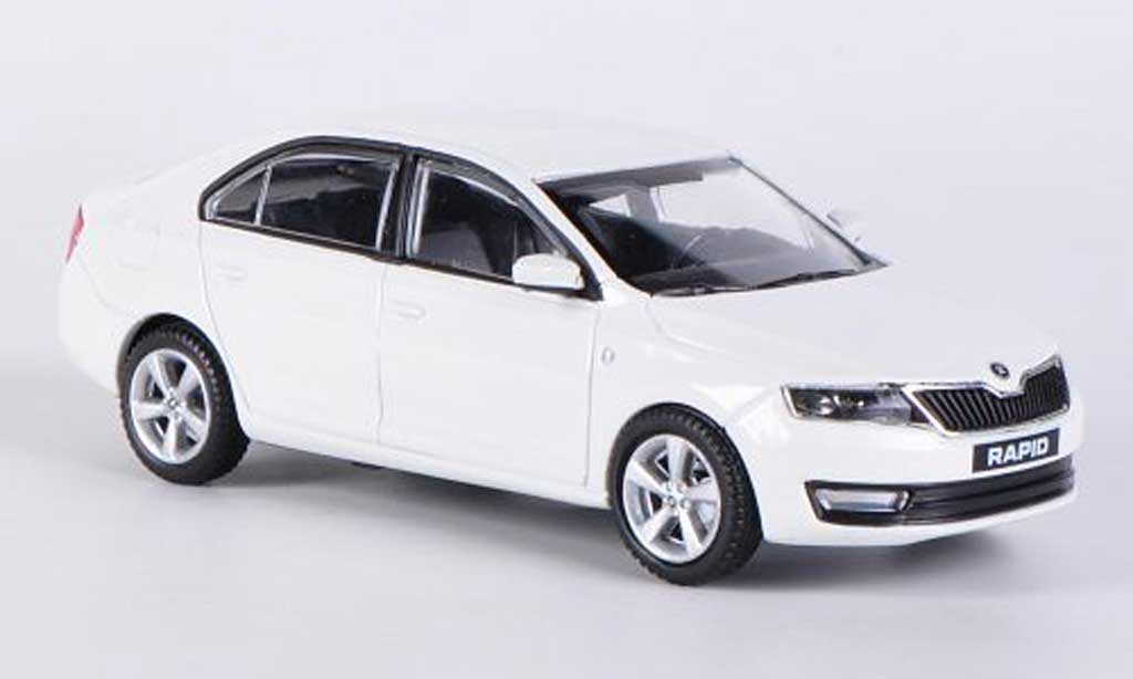 skoda rapid miniature blanche 2012 abrex 1 43 voiture. Black Bedroom Furniture Sets. Home Design Ideas