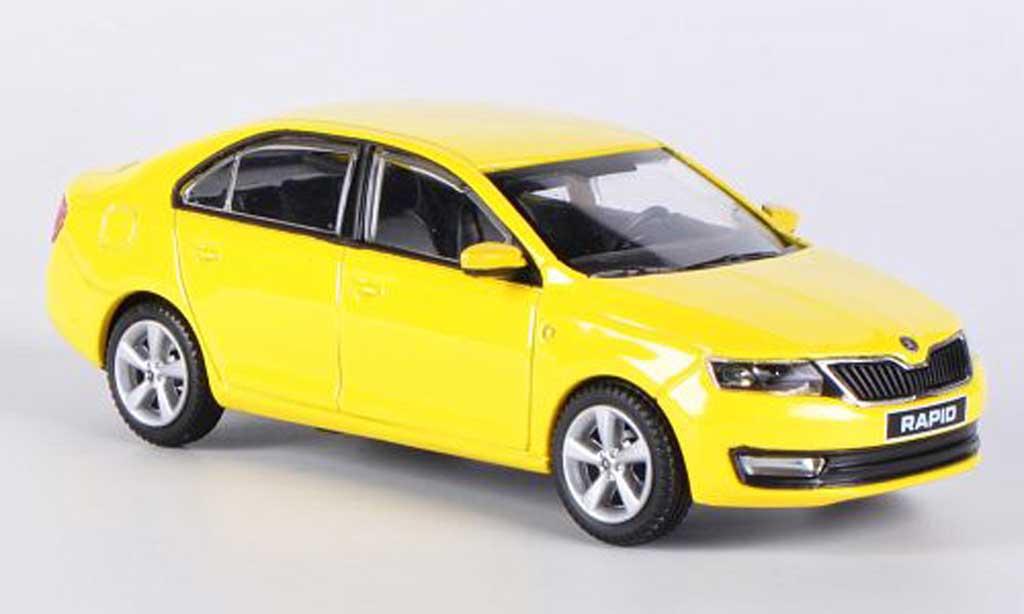 skoda rapid miniature jaune 2012 abrex 1 43 voiture. Black Bedroom Furniture Sets. Home Design Ideas