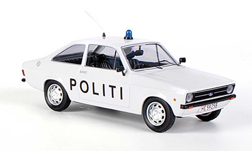 Ford Escort MK2 1/43 Skandinavisk Politi Polizei (DK) miniature