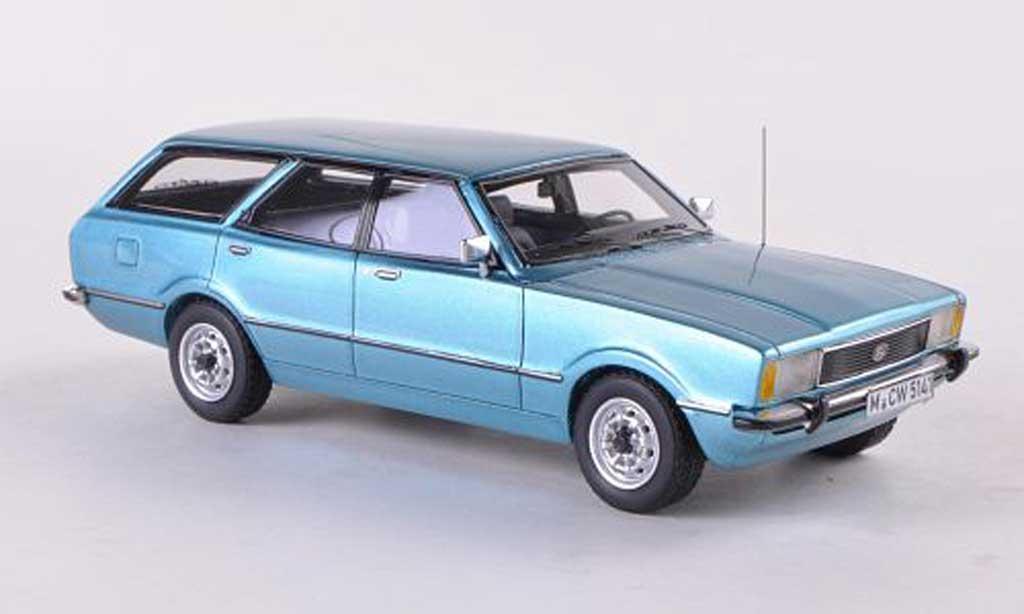 Ford Taunus 1/43 Neo TC2 Turnier GL bleue limitierte Auflage 300 Stuck  1976 miniature