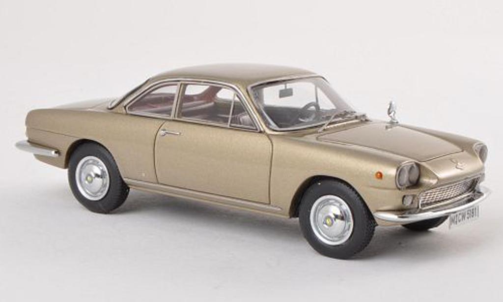 NSU 1500 TS 1/43 Neo TS Neckar Siata noire-beige limitee edition 300 piece 1963 miniature