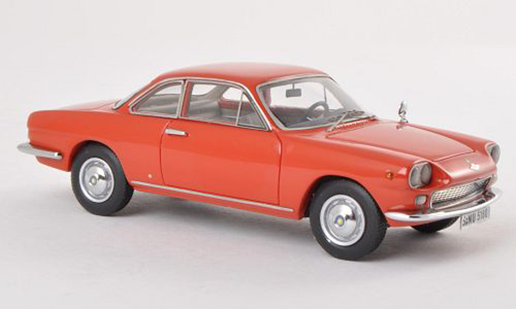 NSU 1500 TS 1/43 Neo TS Neckar Siata rouge 1963 miniature
