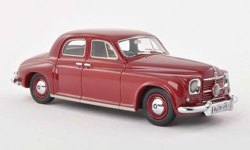 Rover P4 75 1/43 Neo noire-rouge RHD limitee edition 300 piece 1949 miniature