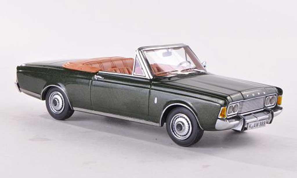 Ford Taunus 1970 1/43 Neo (P7b) 26M Cabriolet Deutsch  verte miniature