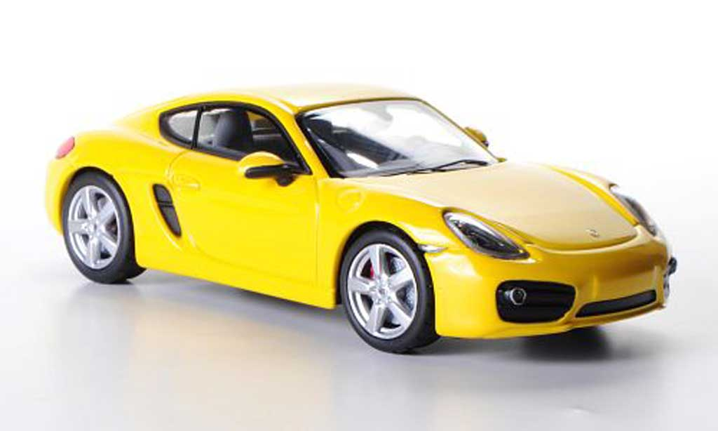 Porsche Cayman S 1/43 Norev (Typ 981C) yellow 2013 diecast model cars