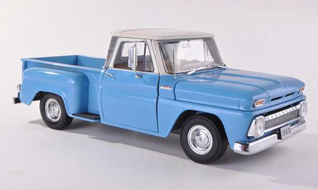 Chevrolet C-10 1/43 Sun Star Pick Up Stepside clair-bleu / beige miniature