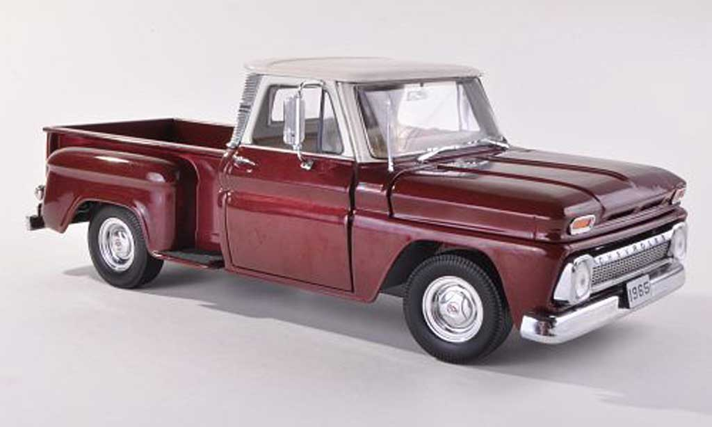 Chevrolet C-10 1/43 Sun Star Pick Up Stepside noire-rouge/beige miniature