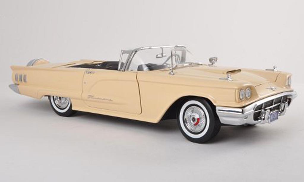 Ford Thunderbird 1960 1/18 Sun Star Convertible beige miniature