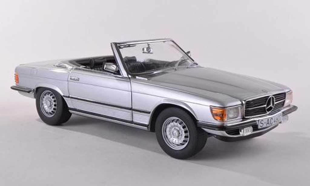 Mercedes 350 SL 1/18 Sun Star SL (R107) grise 1977 miniature