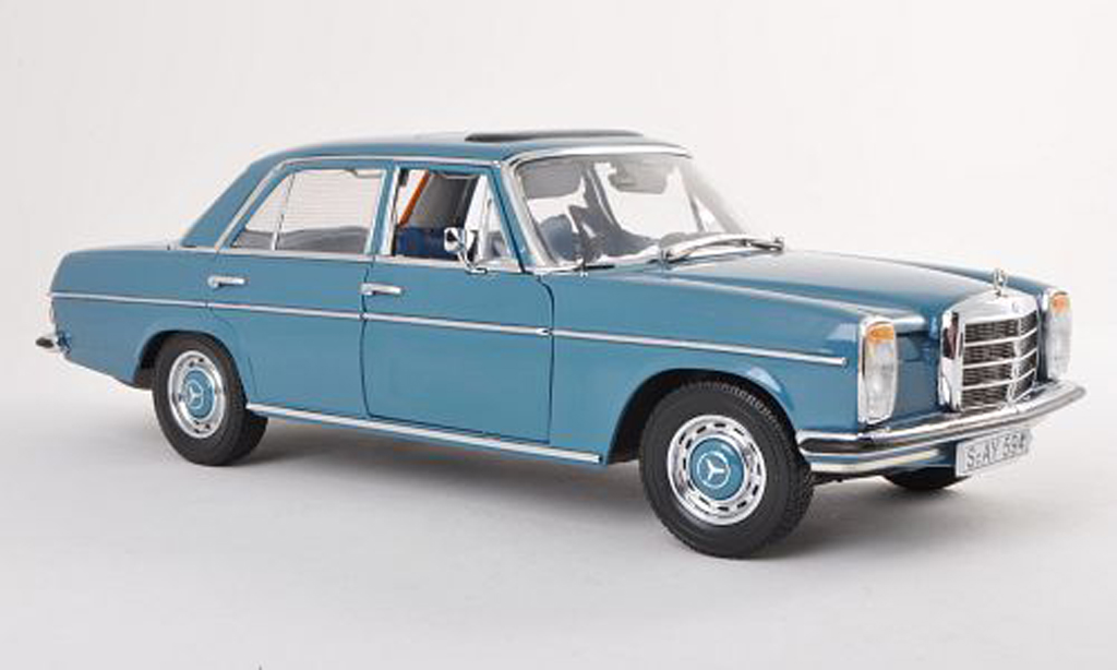 Mercedes 220 1/18 Sun Star (W115) bleu Strich 8 1968